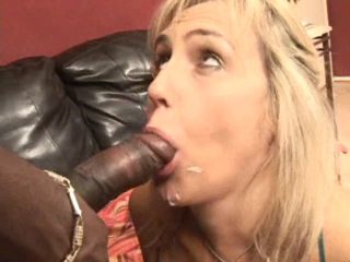 Blonde MILF Sucking A Black Cock