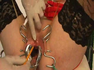 Female Slave Gets Catheter Insertion