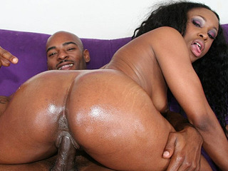 Kianna Jayde gets her big oiled butt cum coated after a hard fucking