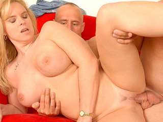Beautiful MILF Cameron Keyes gets pounded hard and creampied