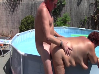Chubby Mature Sucks And Fucks Poolboy And Gets Creampied