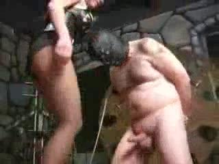 Hard Ball Kick To Tied Japanese Man