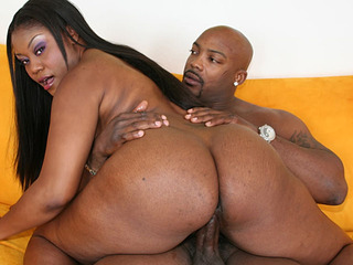 Black beauty with big ass Kina getting screwed hard