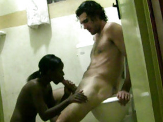 Tiny Has Kinky Interracial Sex On Toilet