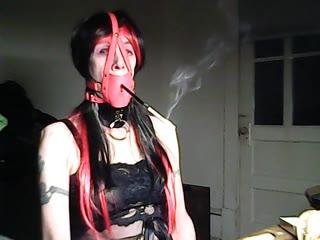 Kathy Bondage Smoke Slut
