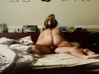 My Fat Ass Wife Rides Big Cock Until We Cum