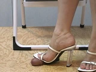 Branco Sandálias De Tiras Esmagamento
