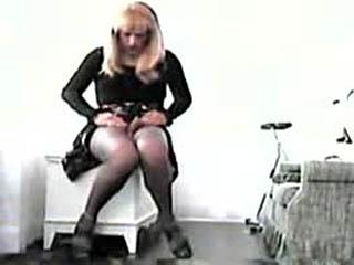 Blonde Sissy Masturbate