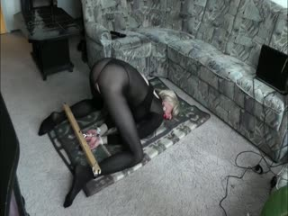 Sexy Bondage Position, Crossdresser Bound And Gagged