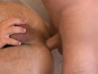 Handsome blonde guy gets her a big load in his mouth