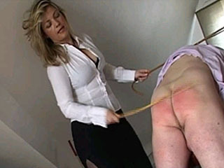 Watch As Naughty Pet Slave Has His Ass Spanked Hard