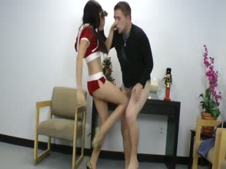 SEXY New Year! Ballbusting Kicks And Knees By Hottest Babe!