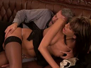 A sexy slut analed in the office