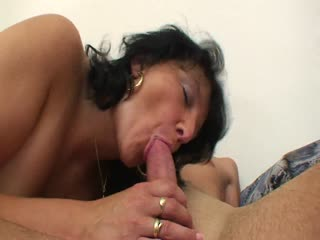 Brunette mature pounded by a horny guy