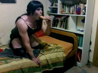 Sucking My Dildo 1