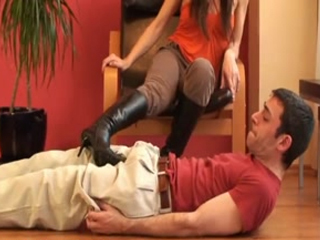 Goddess Kicks Under Her Boot Heel