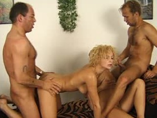 Two Blondes And Two Cocks