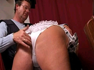 Super Hot School Girl Gets Erotic Spanking By Headmaster