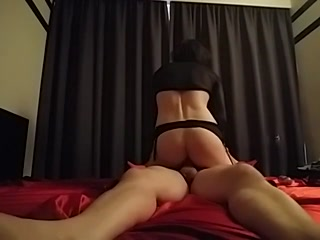 Stunning Sissy Riding A Dick And Gets Cum Inside Butt Hole