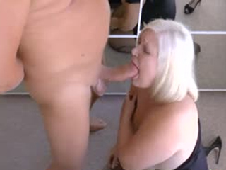Chunky Mature Sucks Her Boss