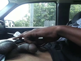 Self Spank In Car