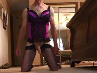 My Hubby In Purple Lingerie