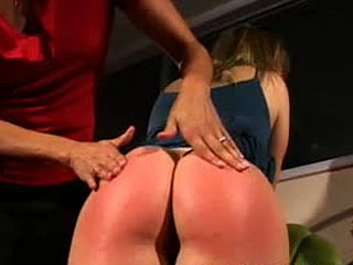 Ashely Enjoys OTK Spanking