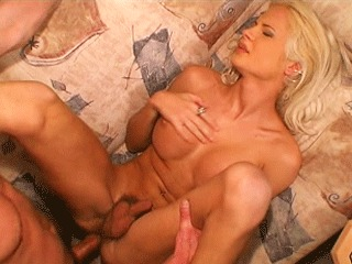 Pretty Blonde Tranny Riding A Dick