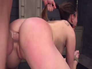 Disobedient Slave Is Tied Up And Getting A Good Pounding By Master Dick