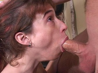 Gabrielle getting a cock rammed down her throat