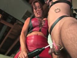 Horny Mom Giving Electric Shocks To Her Slaves Tied Up Balls