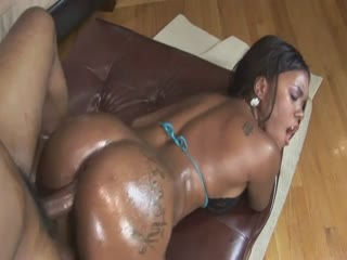 Ebony Babe Riding A Big Dick