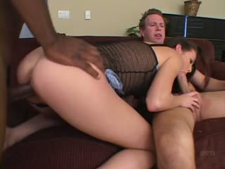 Hailey Young fucked in her mouth and pussy