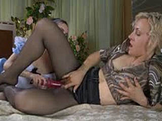 Uniformed Maid Worships Her Mistress's Pantyhosed Feet Before Foot Fisting