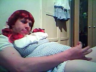 sissy in dorothy dress masturbation