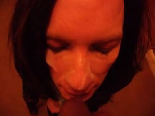 Sara  sexy TV takes a facial