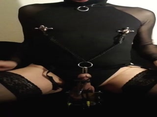 Kinky Crossdressing Masoslut E-Stim