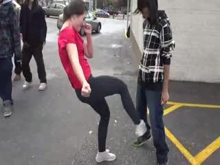 My Friend Kicks Me Twice In Hot Yoga Pants