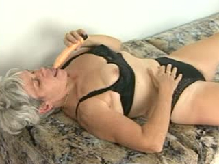 Granny Gets Horny With A Dildo