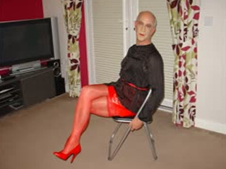 Sissy Slut Andrew Exposed PVC Mini Skirt