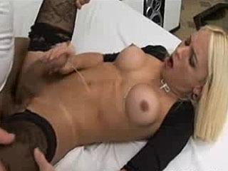 Shemale Lover Unloads Cum In Ass
