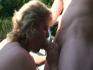 Czech mature fucked in public