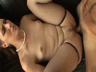 Hot Miss Lady banged hard in her fishnets