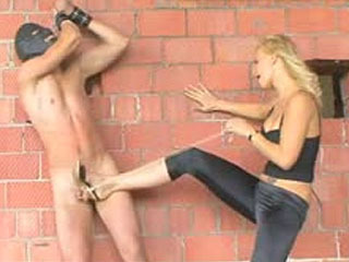 Ballbusting Russian Dominatrix