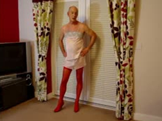 Sissy Slut Andrew Exposed In Pink Undies