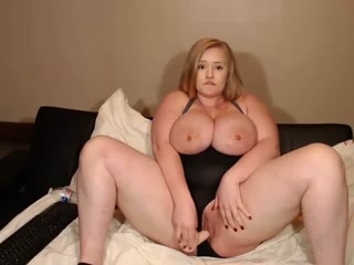 Blonde With Big Tits Toying Her Fat Pussy