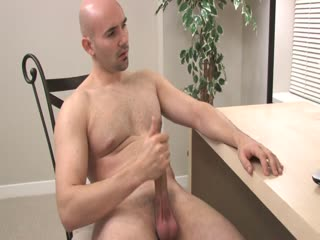 Horny Dude Strokes His Cock While Watching A Porn On His Laptop