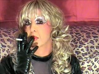 Smoking Blonde Bimbo Slut