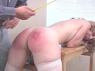 Schoolgirl Gets Paddled