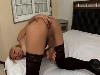 Blonde Shemale masturbating